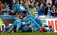 Photo: Kevin Poolman.<br /> Reading v Queens Park Rangers. Coca Cola Championship. 30/04/2006. Reading Players celebrate Graeme Murty's goal.