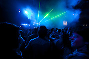 CLUB SCENE DARK  BLUE DRY ICE GREEN LASER