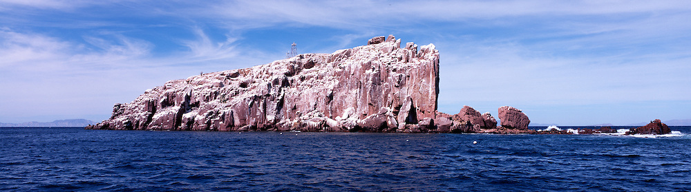 A view of the larger of the islands known as Los Islotes, Sea of Cortez, Mexico