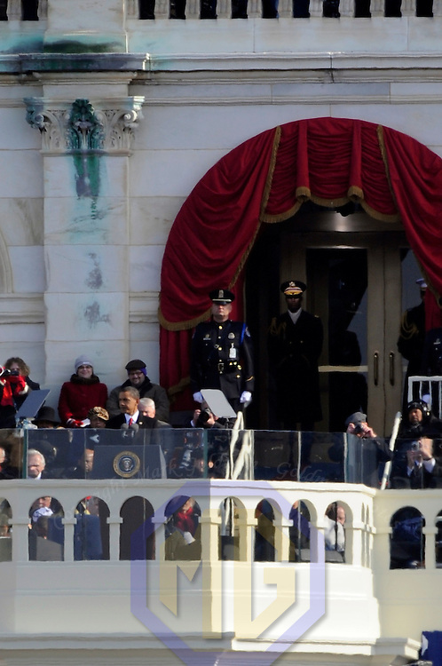 Barack Obama is sworn in as the 44th President of the United States of America during his Inauguration Ceremony on Capitol Hill in Washington on January 20, 2009.    (Mark Goldman/ Goldmine Photos)