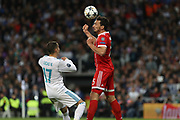 Mats Hummels (Bayern Munich) and Lucas Vasquez (Real Madrid) during the UEFA Champions League, semi final, 2nd leg football match between Real Madrid and Bayern Munich on May 1, 2018 at Santiago Bernabeu stadium in Madrid, Spain - Photo Laurent Lairys / ProSportsImages / DPPI