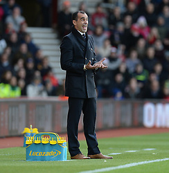 Everton Manager, Roberto Martinez gives his players directions. - Photo mandatory by-line: Alex James/JMP - Mobile: 07966 386802 - 20/12/2014 - SPORT - Football - Southampton  - St Mary's Stadium - Southampton  v Everton - Football