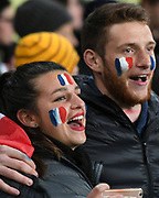 Fans and supporters.<br /> All Blacks v France. Rugby Union. Steinlager Series, 2nd test match. Westpac Stadium, Wellington, New Zealand. Saturday 16 June 2018. &copy; Copyright photo: Andrew Cornaga / www.Photosport.nz