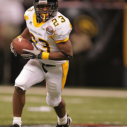 2008 November, 29: Grambling State running back Frank Warren (23) runs with the ball during the 35th annual State Farm Bayou Classic between Southern University and Grambling State University at the Louisiana Superdome in New Orleans, LA.  .