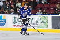 KELOWNA, CANADA - JANUARY 2:  Brett Cote #27 of the Victoria Royals skates on the ice at the Kelowna Rockets on January 2, 2013 at Prospera Place in Kelowna, British Columbia, Canada (Photo by Marissa Baecker/Shoot the Breeze) *** Local Caption ***