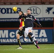 Dundee&rsquo;s Marcus Haber and Partick Thistle's Adam Barton battle for the ball - Partick Thistle v Dundee in the Ladbrokes Scottish Premiership at Firhill, Glasgow - Photo: David Young, <br /> <br />  - &copy; David Young - www.davidyoungphoto.co.uk - email: davidyoungphoto@gmail.com