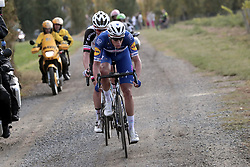 October 7, 2018 - Tours, France - TOURS, FRANCE - OCTOBER 7 : TERPSTRA Niki (NED)  of Quick - Step Floors, COSNEFROY Benoit (FRA)  of AG2R La Mondiale, KRAGH ANDERSEN Soren (DEN) of Team Sunweb during the 112th edition of the Paris - Tours Elite cycling race with start in Chartres and finish in Tours on October 07, 2018 in Tours, France, 7/10/2018  (Credit Image: © Panoramic via ZUMA Press)