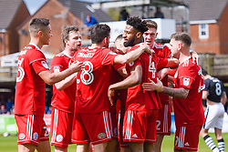 Free to use courtesy of Sky Bet - Accrington Stanley celebrate after scoring - Mandatory by-line: JMP - 28/04/2018 - FOOTBALL - Wham Stadium - Accrington, England - Accrington Stanley v Lincoln City - Sky Bet League Two