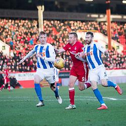 Aberdeen v Kilmarnock, Scottish Premiership, 27th January 2018<br /> <br /> Aberdeen v Kilmarnock, Scottish Premiership, 27th January 2018 &copy; Scott Cameron Baxter | SportPix.org.uk<br /> <br /> Adam Rooney is tackled in the Kilmarnock box.