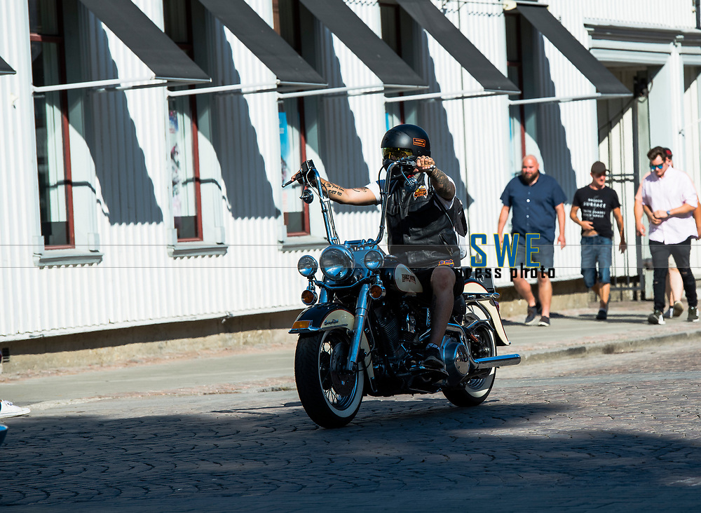 2018-07-06 | Lidk&ouml;ping, Sweden: Harley - Davidsson rider at Power Big meet in  Lidk&ouml;ping City ( Photo by: Roger Johansson | Swe Press Photo )<br /> <br /> Keywords: Lidk&ouml;ping City, Lidk&ouml;ping, Power Big Meet, , ,