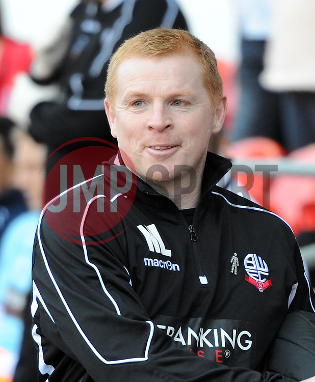 Bolton Wanderers Manager, Neil Lennon at Cardiff City Stadium - Photo mandatory by-line: Paul Knight/JMP - Mobile: 07966 386802 - 06/04/2015 - SPORT - Football - Cardiff - Cardiff City Stadium - Cardiff City v Bolton Wanderers - Sky Bet Championship