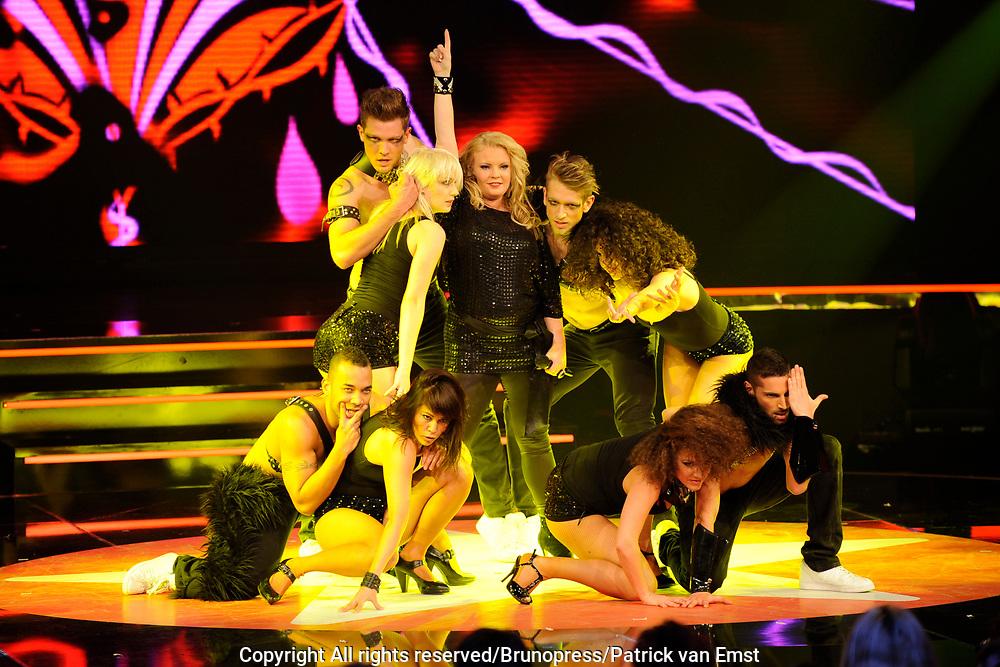 Halve Finale Popstars vanuit Studio 22 in Hilversum Op de foto:<br />  Kristel
