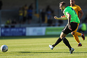 Forest Green Rovers Carl Winchester(7) has an early shot at goal during the Pre-Season Friendly match between Torquay United and Forest Green Rovers at Plainmoor, Torquay, England on 10 July 2018. Picture by Shane Healey.