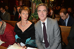 CELIA IMRIE and JAMES NESBITT at the Fortnum & Mason and Quintessentially Foundation Fayre of St.James's in association with The Crown Estate held at St.James's Church, Piccadilly followed but a reception at Fortnum & Mason, Piccadilly,London on 5th December 2013.