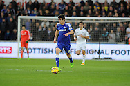 Oscar of Chelsea in action. Barclays Premier League match, Swansea city v Chelsea at the Liberty Stadium in Swansea, South Wales on Saturday 17th Jan 2015.<br /> pic by Andrew Orchard, Andrew Orchard sports photography.