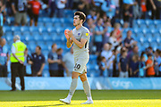 Portsmouth forward John Marquis (10) thanks the travelling fans during the EFL Sky Bet League 1 match between Wycombe Wanderers and Portsmouth at Adams Park, High Wycombe, England on 21 September 2019.