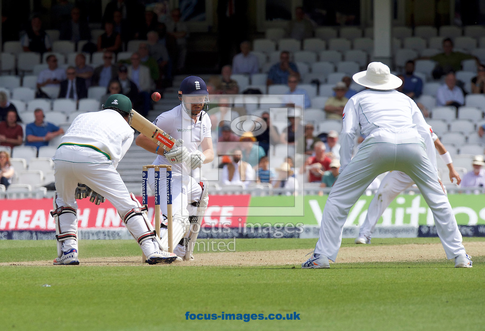 Batsman Jonny Bairstow of England leaves the ball during Day Four of the fourth Investec Test Match at the Kia Oval, London<br /> Picture by Alan Stanford/Focus Images Ltd +44 7915 056117<br /> 14/08/2016