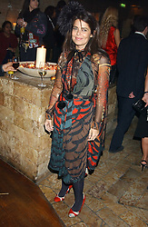 DANIELLA HELAYEL at a party hosted by Daniella Helayel of fashion label ISSA held at Taman Gang, 141 Park Lane, London on 15th February 2006.<br />