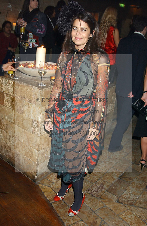 DANIELLA HELAYEL at a party hosted by Daniella Helayel of fashion label ISSA held at Taman Gang, 141 Park Lane, London on 15th February 2006.<br /><br />NON EXCLUSIVE - WORLD RIGHTS