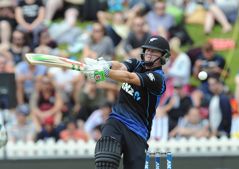 New Zealand's Henry Nichols plays and misses against Pakistan in the 1st ODI International Cricket match at Basin Reserve, Wellington, New Zealand, Monday, January 25, 2016. Credit:SNPA / Ross Setford