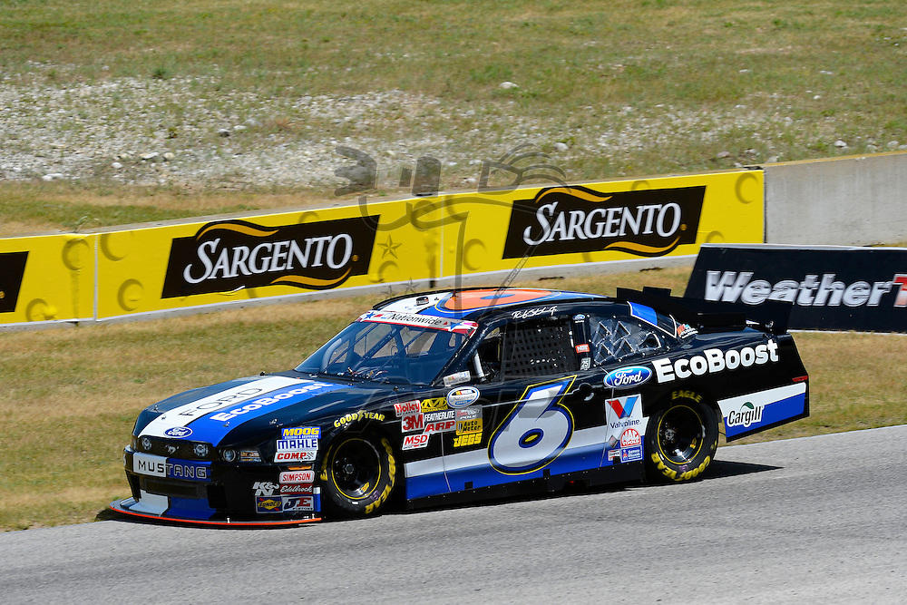 Elkhart Lake,WI - JUN 22, 2012:  Ricky Stenhouse, Jr. (6) practices on track for the Sargento 200  race at the Road of America in Elkhart Lake , WI.