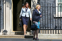 © Licensed to London News Pictures. 30/04/2019. London, UK. Karen Bradley - Secretary of State for Northern Ireland (R) and Caroline Nokes - Minister of State for Immigration (L)  departs from No 10 Downing Street after attending the weekly Cabinet meeting. Photo credit: Dinendra Haria/LNP