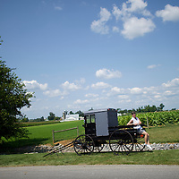 "Dan Roller photographs his wife, Sharon, seated on a buggy, at the Amish Experience, an immersive tourism destination in Bird in Hand, PA on August 9, 2014.  A bevy of Amish themed reality television shows (Amish Mafia, Breaking Amish, Return to Amish and Amish Haunting - to be televised soon) have prompted controversy over the negative portrayal.  One woman, a Mary Haverstick, a film maker, has launched a website in support of the Amish (respectamish.org) and has garnered the support of 3,000 businesses.  Her motivation to start the website was to ""end the bigoted programming.""  REUTERS/Mark Makela (UNITED STATES)"