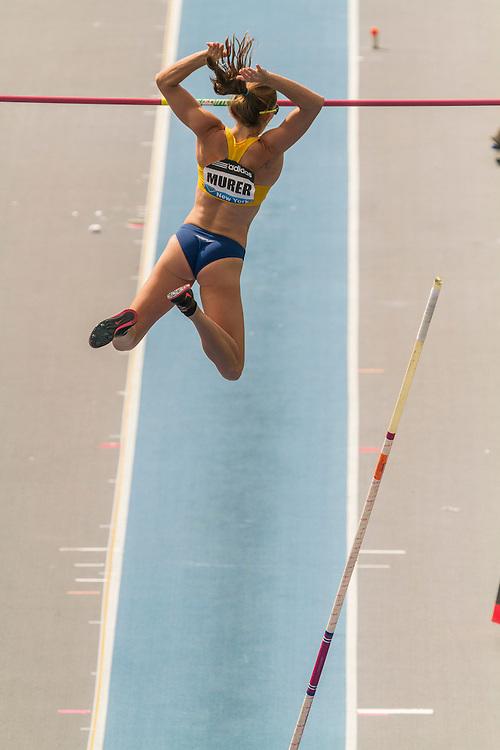 Fabiana Murer, Brazil, wins women's pole vault, adidas Grand Prix Diamond League track and field meet