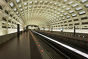 USA, Virginia, Arlington. Metro station in suburban Washington, D.C.