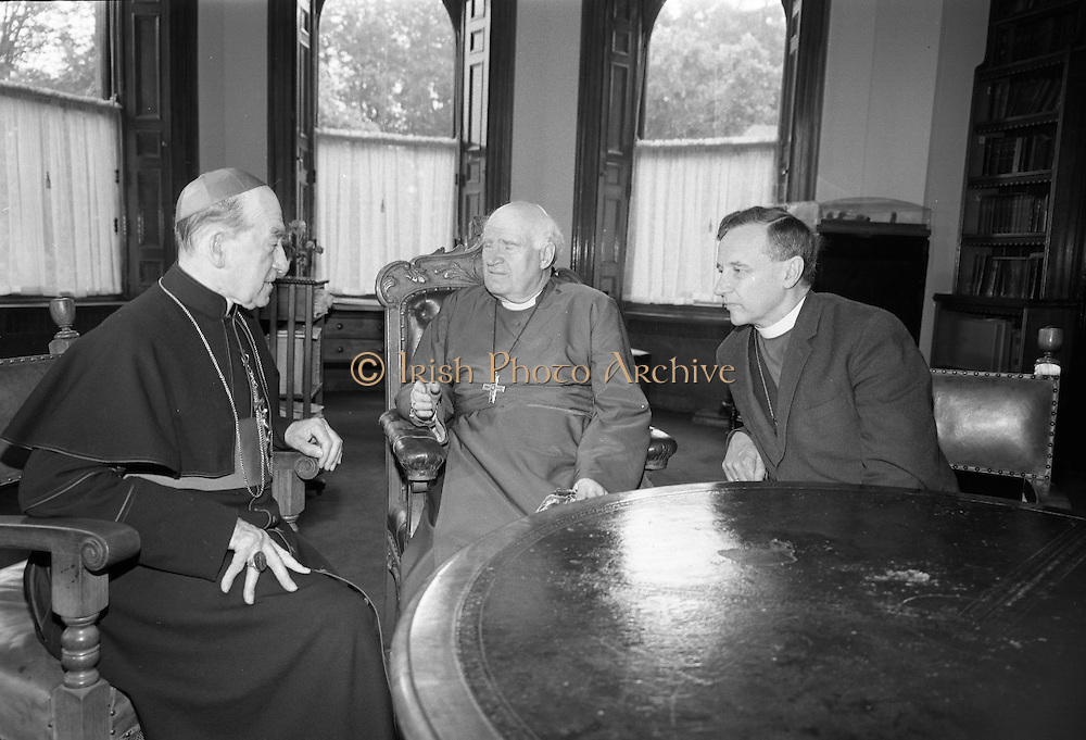Doctor Ramsey, Archbishop of Canterbury, visits Maynooth College with Doctor Simms, Archbishop of Dublin..25.06.1967