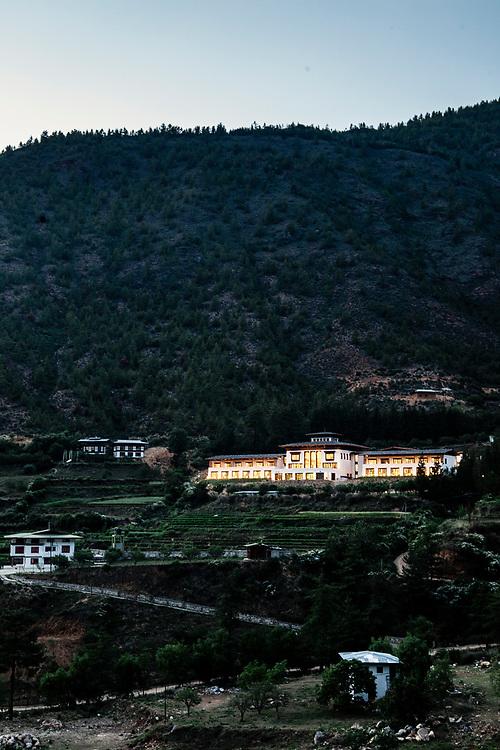Bhutan Spirit Sanctuary at night