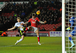 Bristol City's Aden Flint is denied by Port Vale's Chris Robertson  - Photo mandatory by-line: Joe Meredith/JMP - Mobile: 07966 386802 - 10/02/2015 - SPORT - Football - Bristol - Ashton Gate - Bristol City v Port Vale - Sky Bet League One