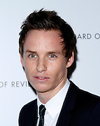 Eddie Redmayne attends the National Board of Review Awards Gala at Cipriani 42nd St in New York City, New York on January 08, 2013.