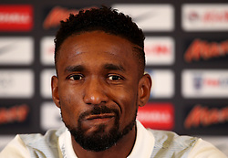 England's Jermaine Defoe speaks during the press conference - Mandatory by-line: Matt McNulty/JMP - 29/08/2017 - FOOTBALL - St George's Park National Football Centre - Burton-upon-Trent, England - England Training and Press Conference