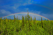 Rainbow along the Klondike Highway, Carmacks, Yukon, Canada<br /> Carmacks<br /> Yukon<br /> Canada