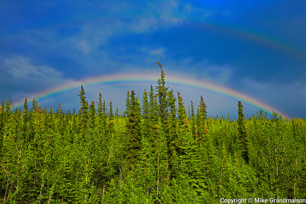 Rainbow along the Klondike Highway, Carmacks, Yukon, Canada<br /> Carmacks<br /> Yukon<br /> Canada
