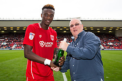 Man of the Match presentation to Tammy Abraham of Bristol City - Rogan Thomson/JMP - 27/08/2016 - FOOTBALL - Ashton Gate Stadium - Bristol, England - Bristol City v Aston Villa - Sky Bet EFL Championship.
