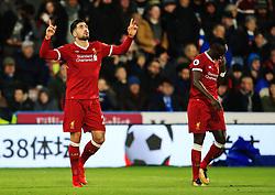 Emre Can of Liverpool celebrates after scoring his sides first goal - Mandatory by-line: Matt McNulty/JMP - 30/01/2018 - FOOTBALL - John Smith's Stadium - Huddersfield, England - Huddersfield Town v Liverpool - Premier League