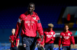 Famara Diedhiou of Bristol City arrives at Portman Road, for the Sky Bet Championship fixture with Ipswich Town - Mandatory by-line: Robbie Stephenson/JMP - 30/09/2017 - FOOTBALL - Portman Road - Ipswich, England - Ipswich Town v Bristol City - Sky Bet Championship
