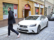 Wroclaw 31/01/2013.Davis Cup .Poland vs Slovenia.Draw ceremony.Lexus and Jerzy Janowicz.Photo by : Piotr Hawalej