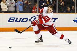 March 3, 2011; San Jose, CA, USA;  Detroit Red Wings right wing Daniel Cleary (11) warms up before the game against the San Jose Sharks at HP Pavilion.  San Jose defeated Detroit 3-1. Mandatory Credit: Jason O. Watson / US PRESSWIRE