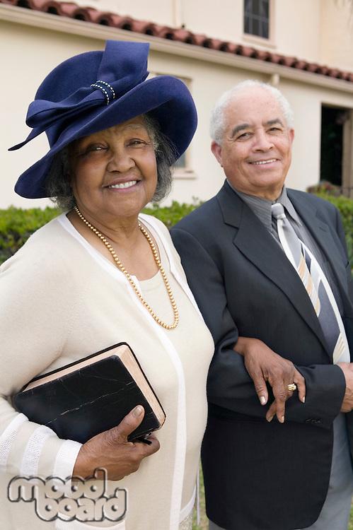 Senior Couple Going to Church on Sunday