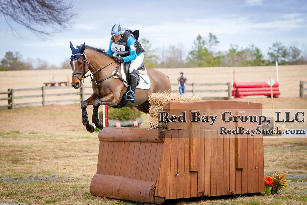 Kate Chadderton (AUS) and VS McCuan Civil Liberty at the 2014 Pine Top Spring Advanced Horse Trials in Thomson, Georgia.
