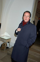 DAVID CAMERON MP at a dinner attended by the Conservative leader Michael Howard and David Davis and David Cameron held at the Banqueting Hall, Whitehall, London on 29th November 2005.<br /><br />NON EXCLUSIVE - WORLD RIGHTS