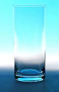Studio shot of empty glass