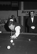 1980-05-01.1st May 1980.01-05-1980.05-01-80..Photographed at Goffs, Kill, Co Kildare..For the pocket:..Denis Taylor taking a shot at the Benson & Hedges Irish Masters Snooker Competition.