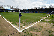 The Gigg Lane pitch at the JD stadium before the Sky Bet League 1 match between Bury and Doncaster Rovers at the JD Stadium, Bury, England on 9 April 2016. Photo by Mark Pollitt.