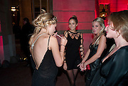 VIOLET HENDERSON; FLORENCE BRUDENELL-BRUCE; ALICE DAWSON; VANESSA GARWOOD, TATLER 300TH ANNIVERSARY PARTY. Lancaster House. St. james's. London. 14 October 2009