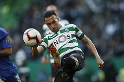 January 12, 2019 - Lisbon, Portugal - Jefferson of Sporting  in action  during Primeira Liga 2018/19 match between Sporting CP vs FC Porto, in Lisbon, on January 12, 2019. (Credit Image: © Carlos Palma/NurPhoto via ZUMA Press)