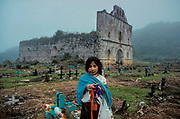 San Juan Chamula, the cemetery and the old church, a construction of conquistadores time.